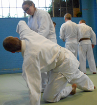 Aikido technique at the Reading YMCA dojo
