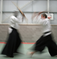 Aikido weapons training