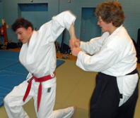 Training in Aikido at Reading YMCA
