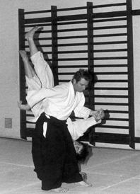 Reading University                                             Aikido at the London Road                                             Gym Pre-1980: Koshinage