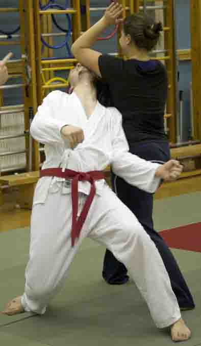 Aikido class at                                       Reading University, Berkshire