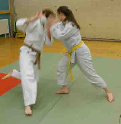 Aikido throw at Reading University Aikido Club