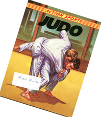 Judo book with Ron                                             Russell name sticker