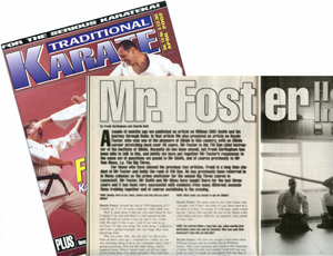Interview with Foster Sensei in                             Traditional Karate magazine